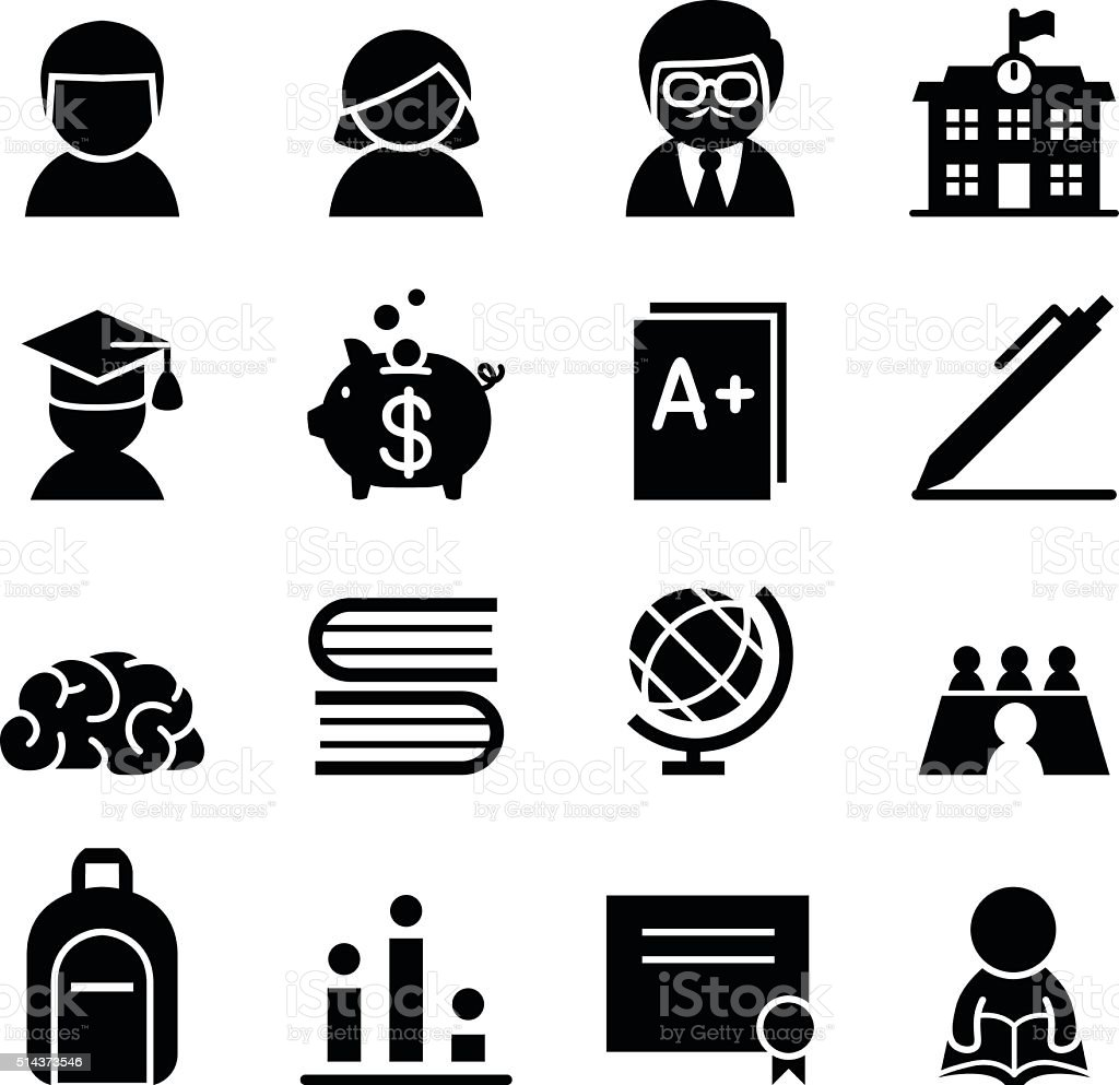 Scholarship Icon vector art illustration