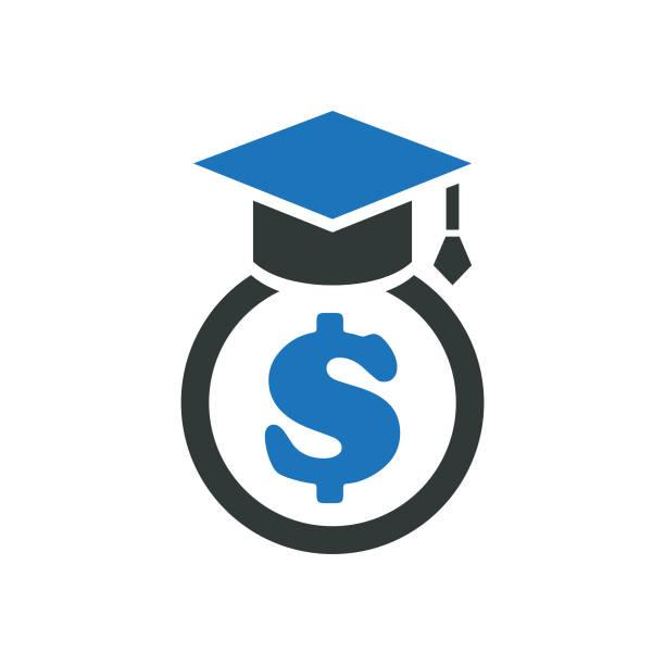 scholarship-symbol - akademisches lernen stock-grafiken, -clipart, -cartoons und -symbole