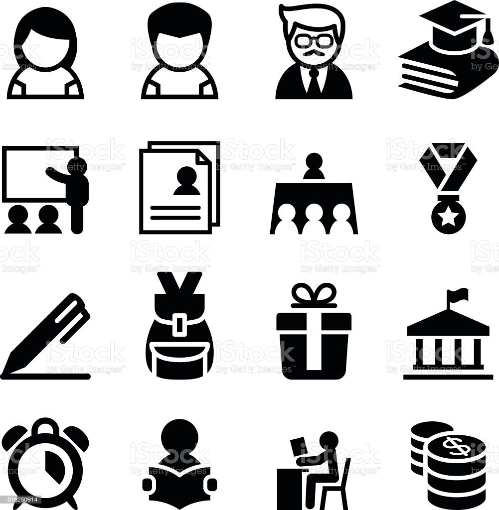 Scholarship , school , high school , University icon vector art illustration