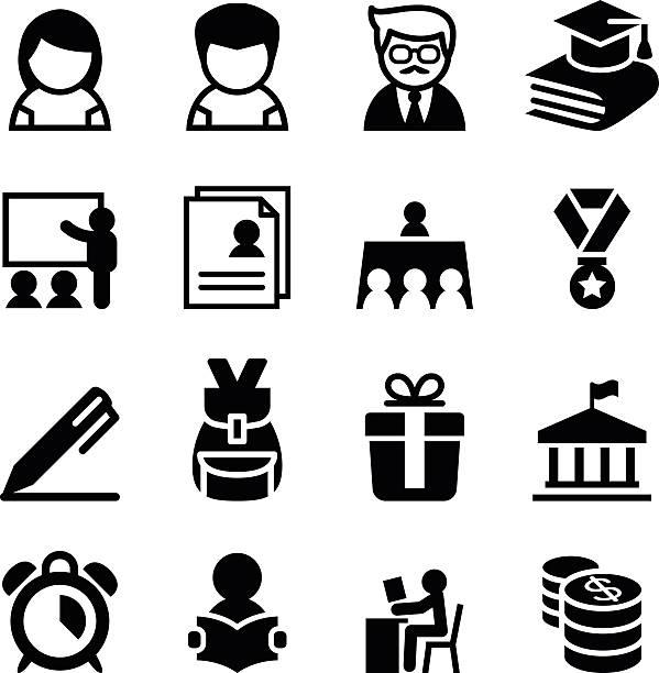 Scholarship , school , high school , University icon vector art illustration