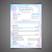 Scholarships CV resume template design and letterhead / cover letter. Professional CV design with placeholder.
