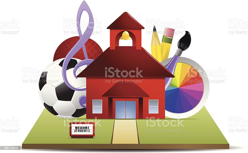 School Activities vector art illustration