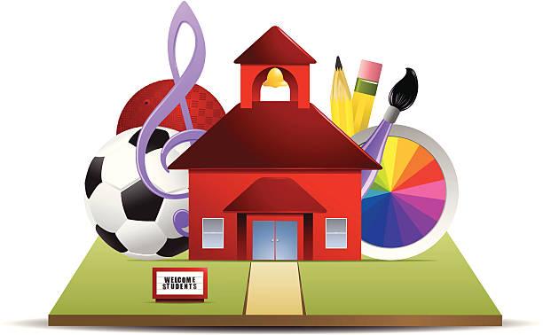 illustrations, cliparts, dessins animés et icônes de école des activités - sports lycée