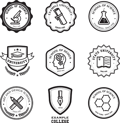 School and education badges
