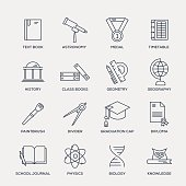 School and Education Icon Set - Line Series