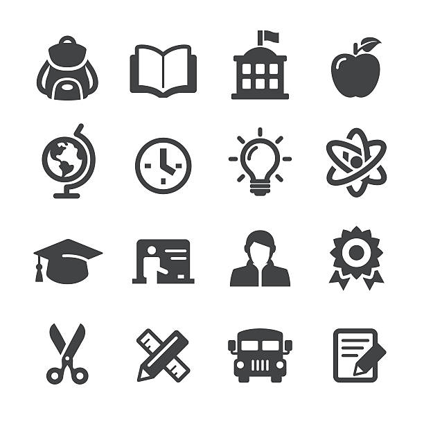 School and Education Icons - Acme Series View All: elementary age stock illustrations