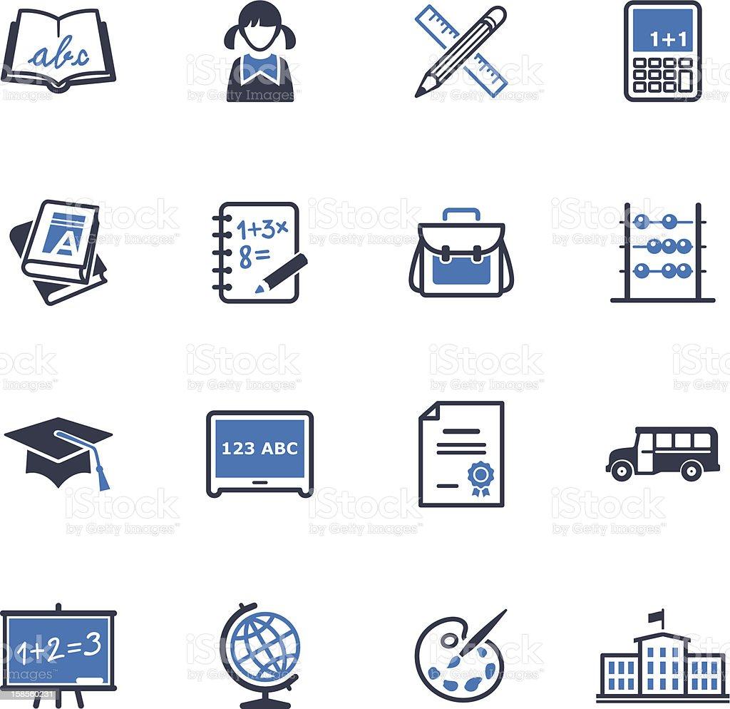 학교 및 교육 아이콘 세트 1-블루 시리즈 royalty-free 학교 및 교육 아이콘 세트 1블루 시리즈 계산기에 대한 스톡 벡터 아트 및 기타 이미지