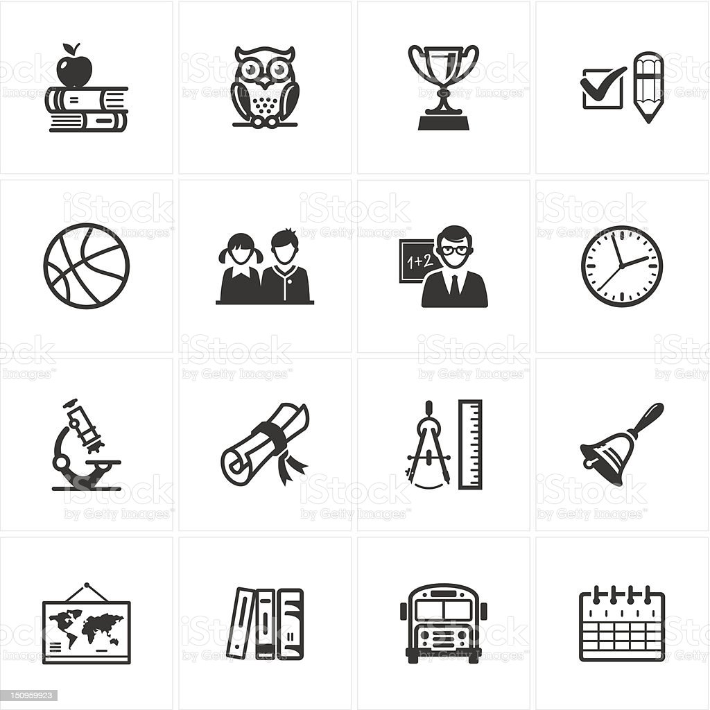 School and Education Icons - Set 3 royalty-free school and education icons set 3 stock vector art & more images of apple - fruit