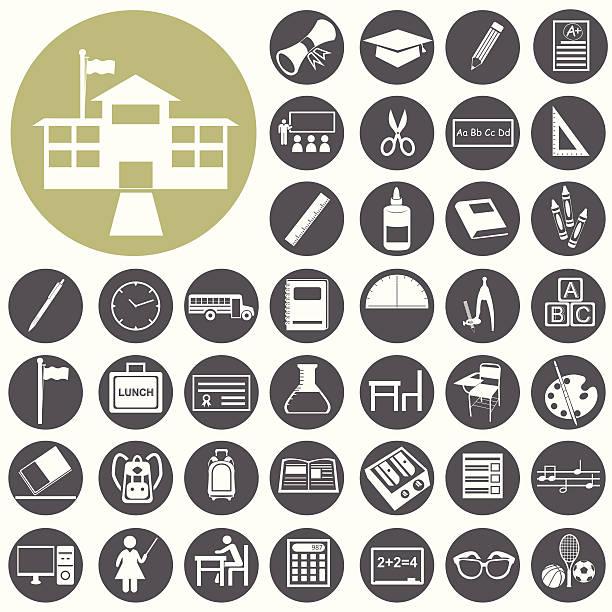 Schule und Bildung Ikonen-set.  Illustration eps10 – Vektorgrafik