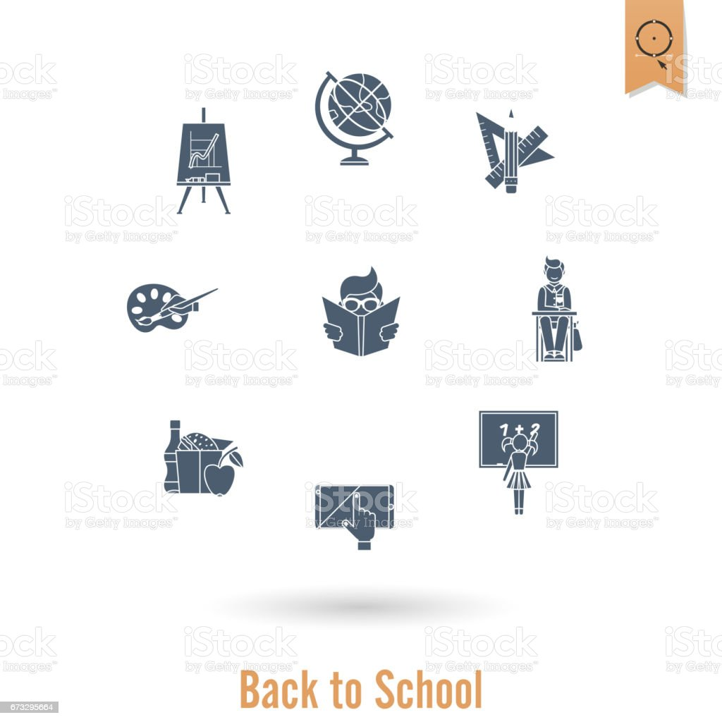 School and Education Icons royalty-free school and education icons stock vector art & more images of cap