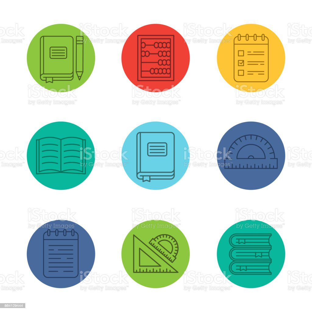 School and education icons royalty-free school and education icons stock vector art & more images of abacus