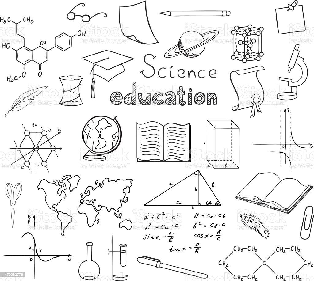 School And Education Symbols Vector Stock Vector Art More Images