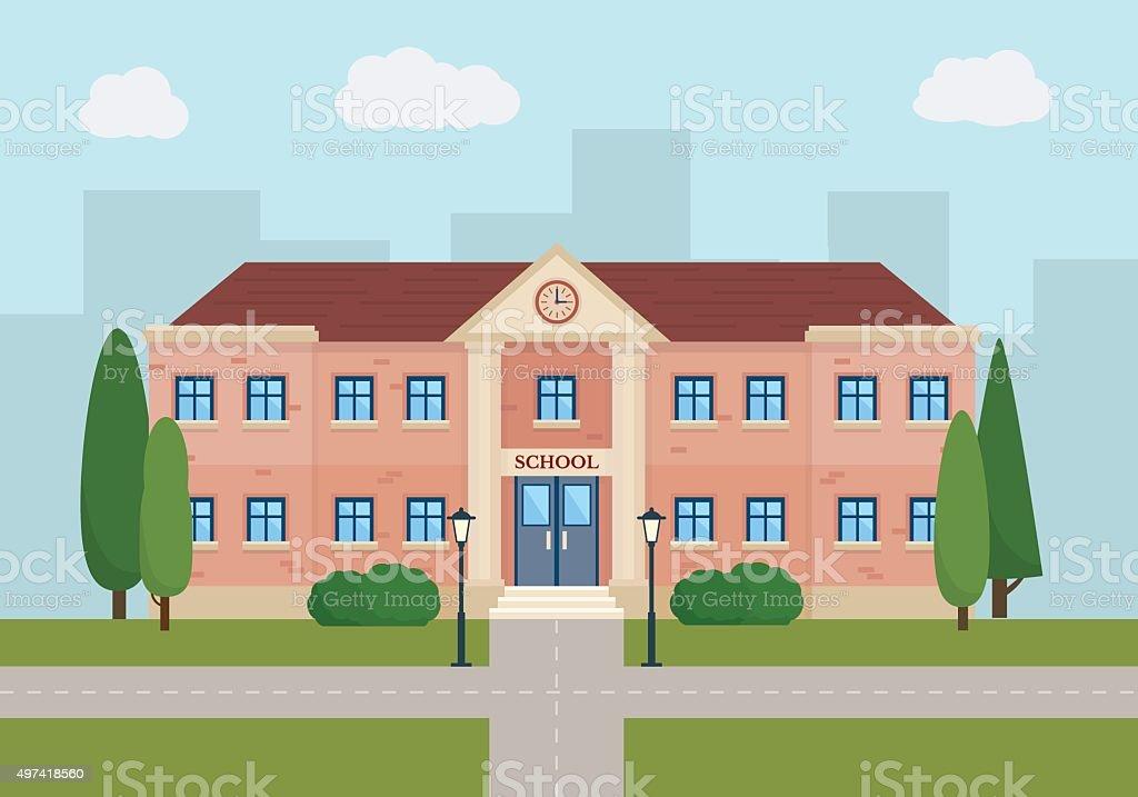 School and education. vector art illustration