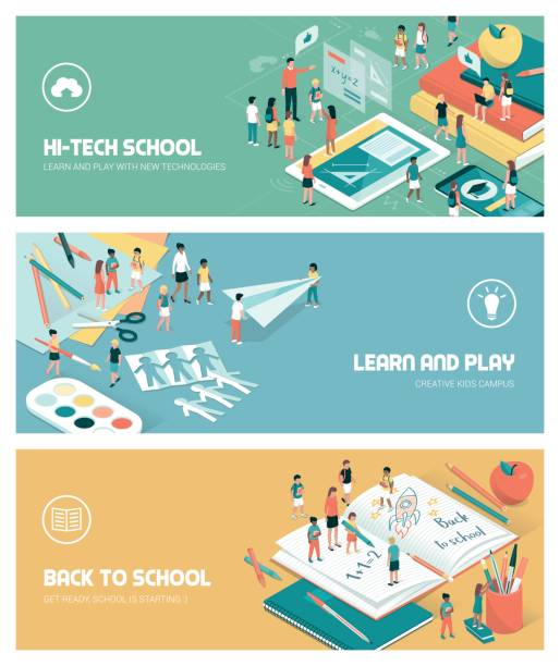 School and education vector art illustration