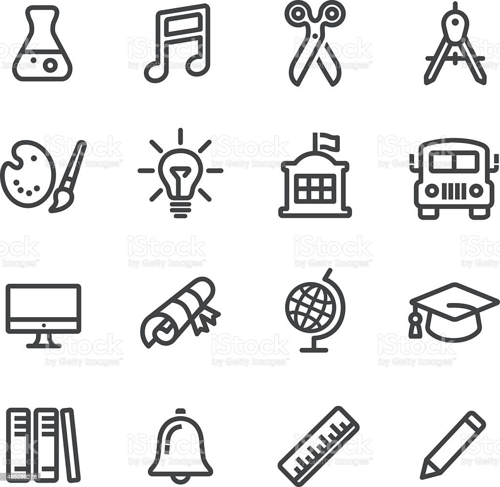 School and Subject Icons - Line Series vector art illustration