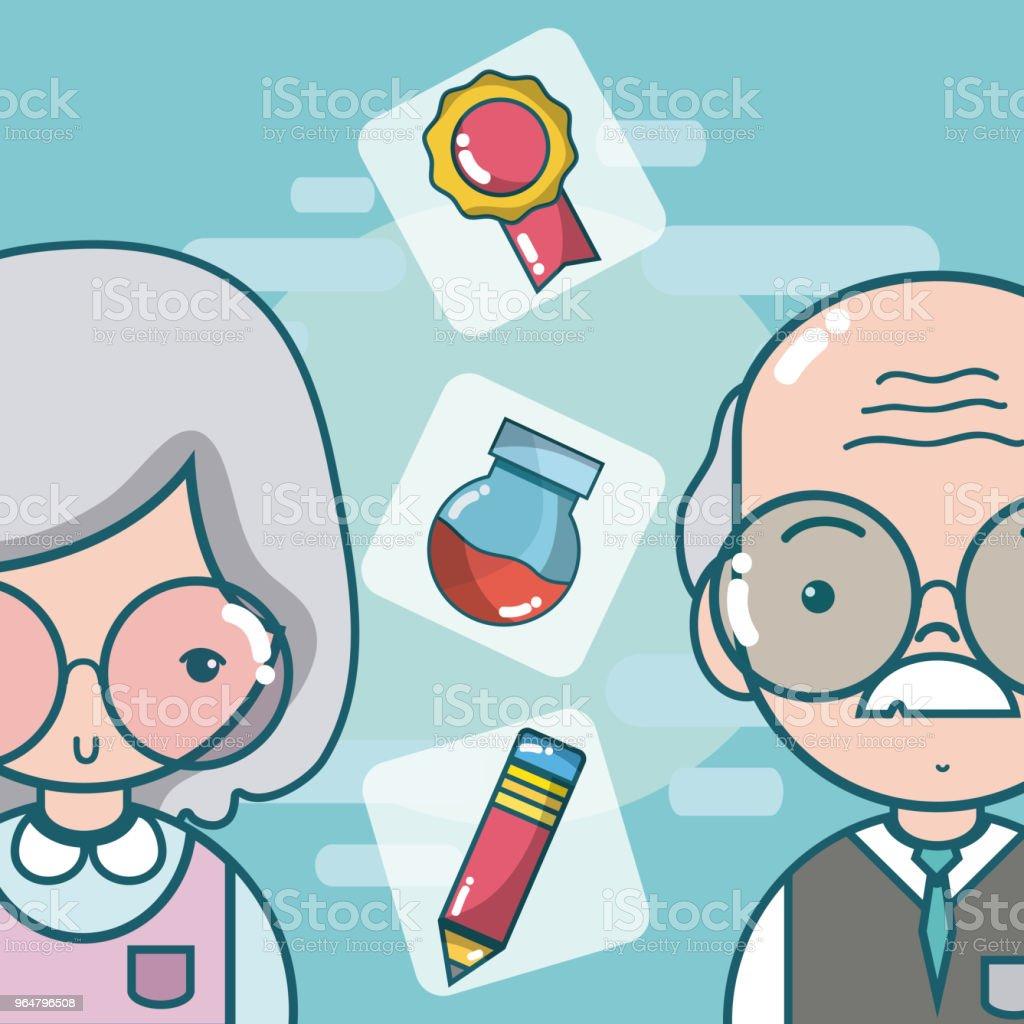 School and teachers cartoon royalty-free school and teachers cartoon stock vector art & more images of art