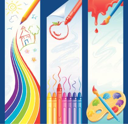School Art Theme Banners