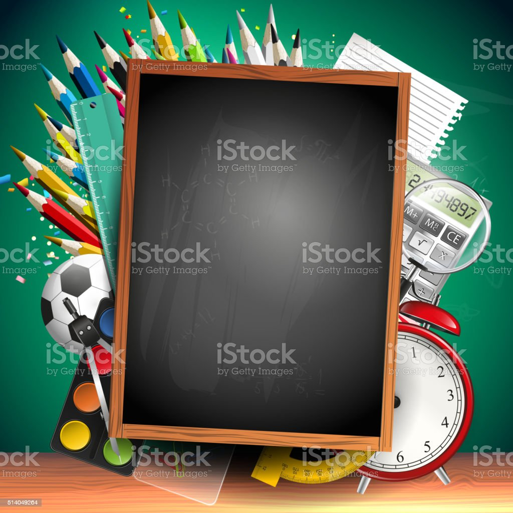School background vector art illustration