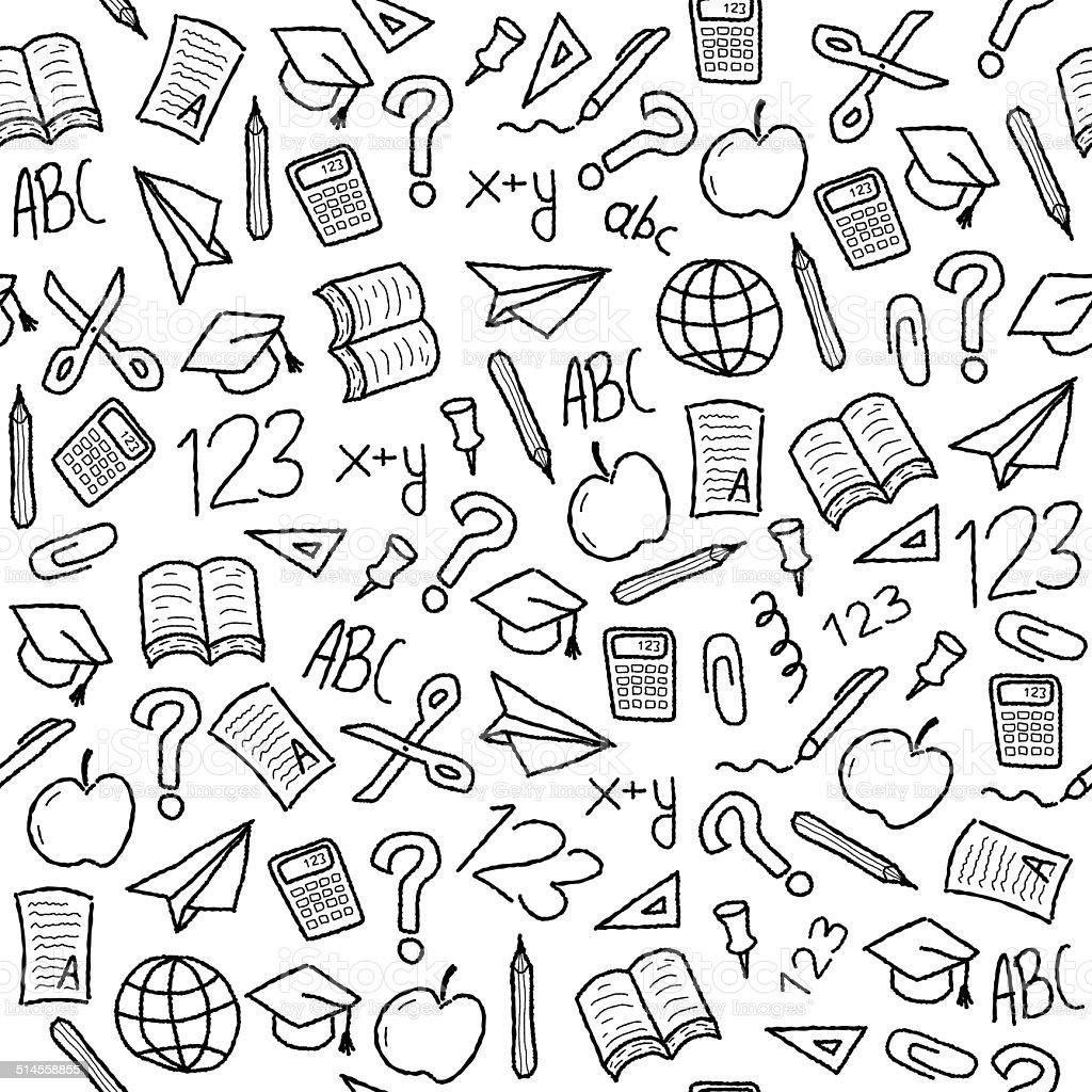 School backgroundvectorkunst illustratie
