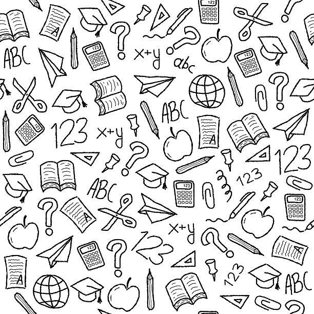Fondo de escuela - ilustración de arte vectorial