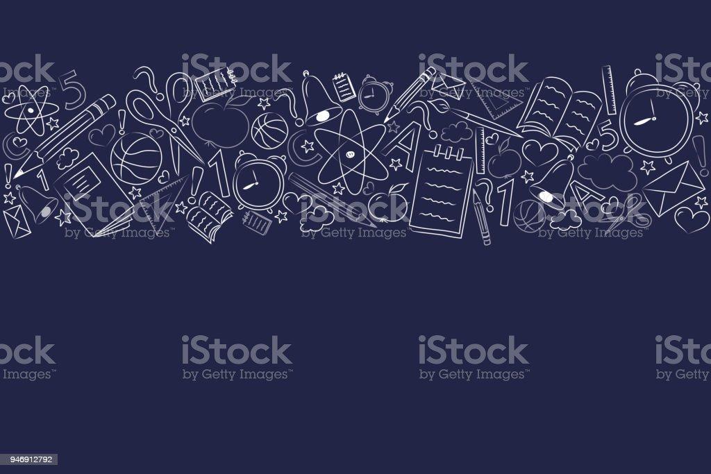 Fondo de escuela con Peña y copyspace. Vector. - ilustración de arte vectorial