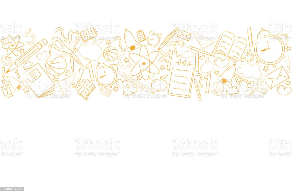 School background with funny sketch and copyspace. Vector. royalty-free school background with funny sketch and copyspace vector stock illustration - download image now