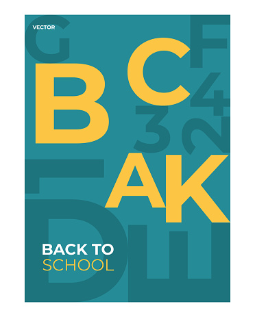 School backgrounds. Elements and objects on school themes, simple background for poster. Vector illustration background concept.