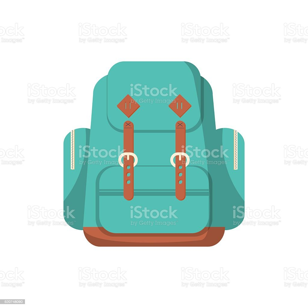 School backpack in a flat style. vector art illustration
