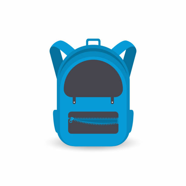 Bекторная иллюстрация School backpack isolated on white background. Kids backpack icon
