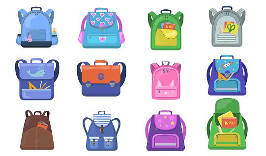 School backpacks set