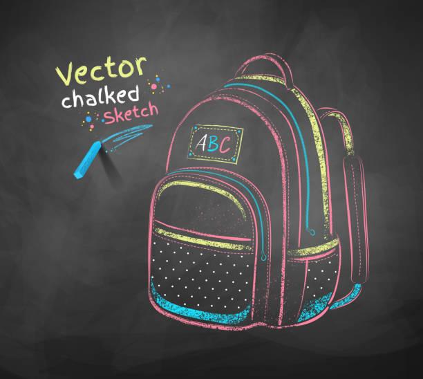 stockillustraties, clipart, cartoons en iconen met school bag. - schooltas