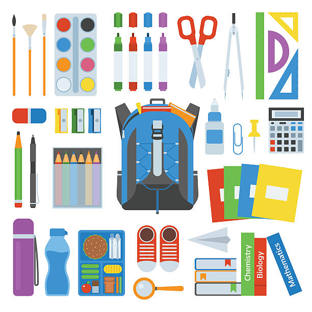 School bag vector set. - Illustration vectorielle
