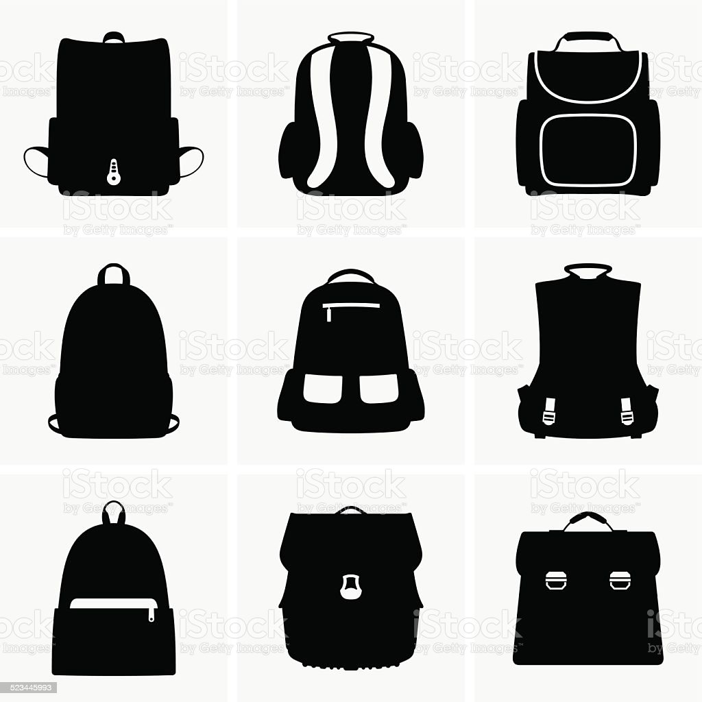 School bags​​vectorkunst illustratie