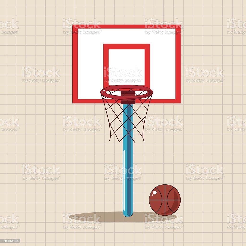 Sol Terrain De Basket terrain de basketball sur le thème de lécole des Éléments de