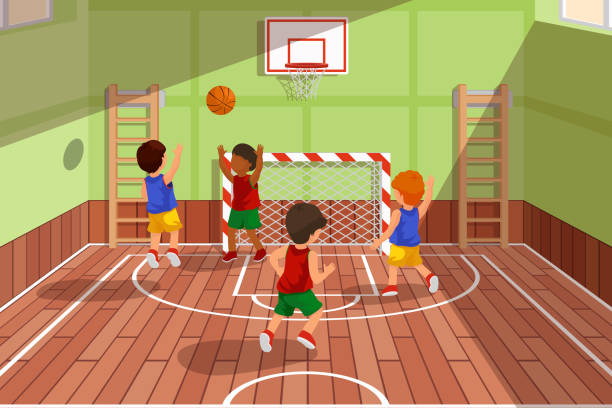 Royalty free youth basketball clip art vector images