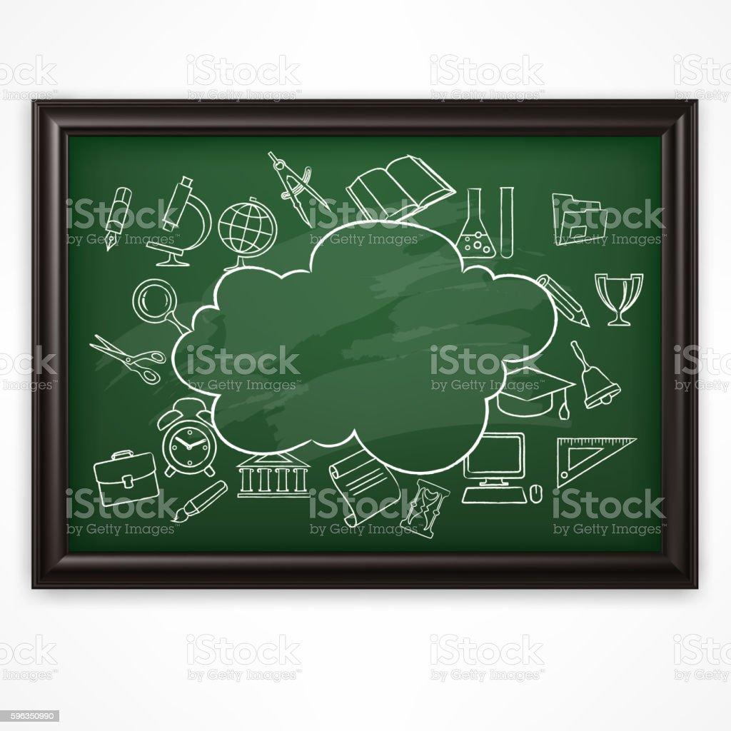 School blackboard Green vector illustration royalty-free school blackboard green vector illustration stock vector art & more images of alphabet