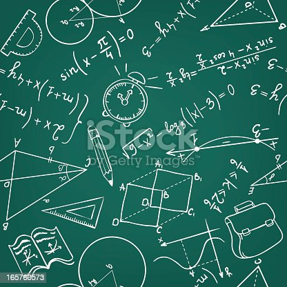 Hand-drawn seamless pattern. Education background.