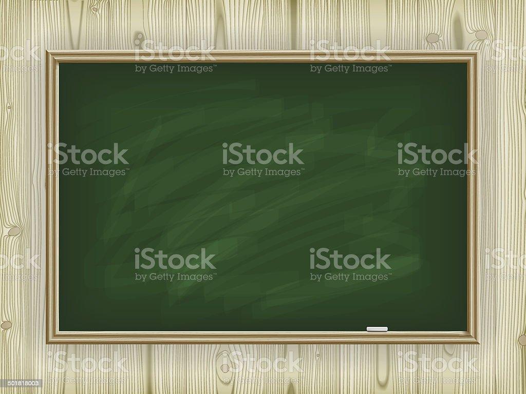 School board on wooden background vector art illustration