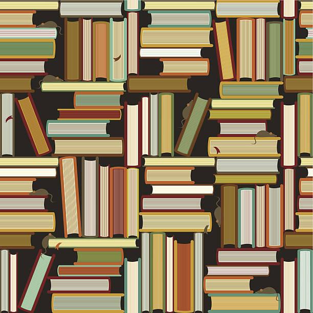 School books pattern vector art illustration
