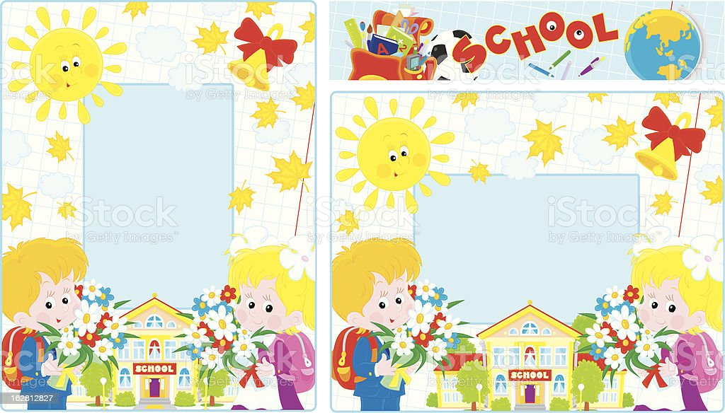 School borders royalty-free stock vector art
