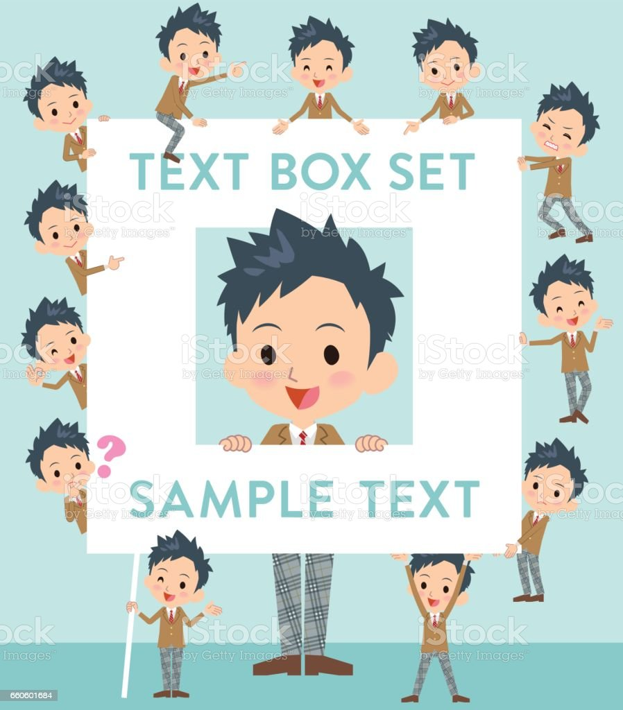school boy Brown Blazer text box royalty-free school boy brown blazer text box stock vector art & more images of adult