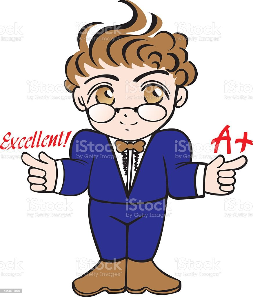 'A+' School Boy (Vector) royalty-free stock vector art