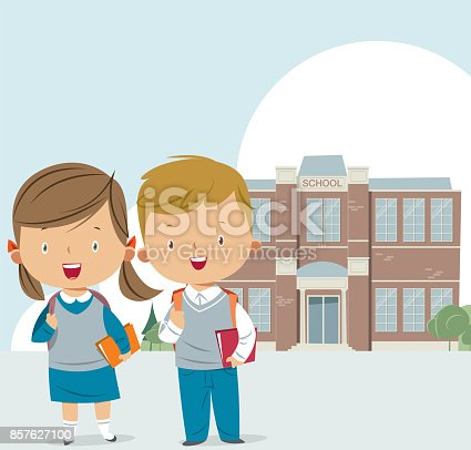 istock School building and kids 857627100