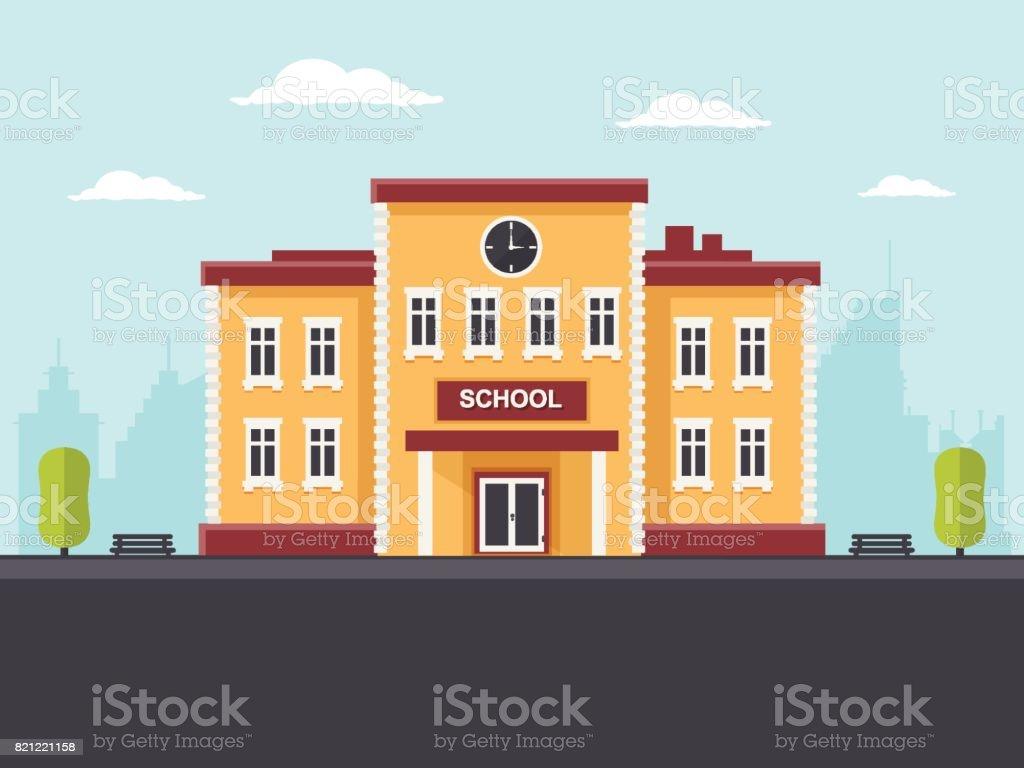 Schoolgebouwvectorkunst illustratie