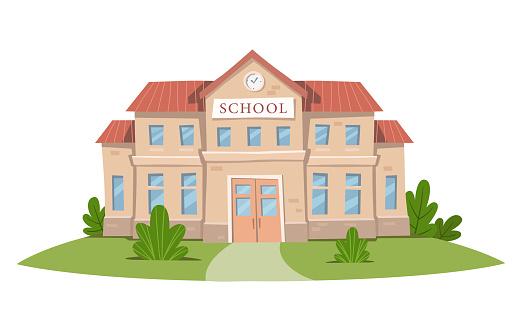 School building. Vector illustration.