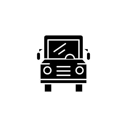 校車黑圖示概念校車平面向量符號 符號 插圖向量圖形及更多乘圖片