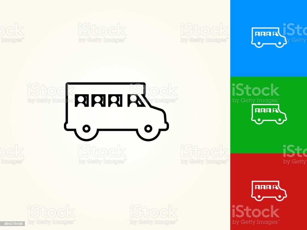School bus Black Stroke Linear Icon royalty-free school bus black stroke linear icon stock vector art & more images of black color