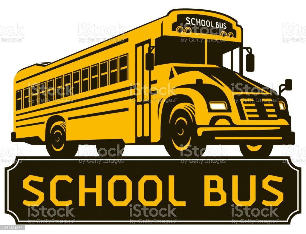 Ônibus escolar Clip-Art - ilustração de arte em vetor