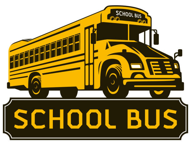 school bus clip art - high school sports stock illustrations