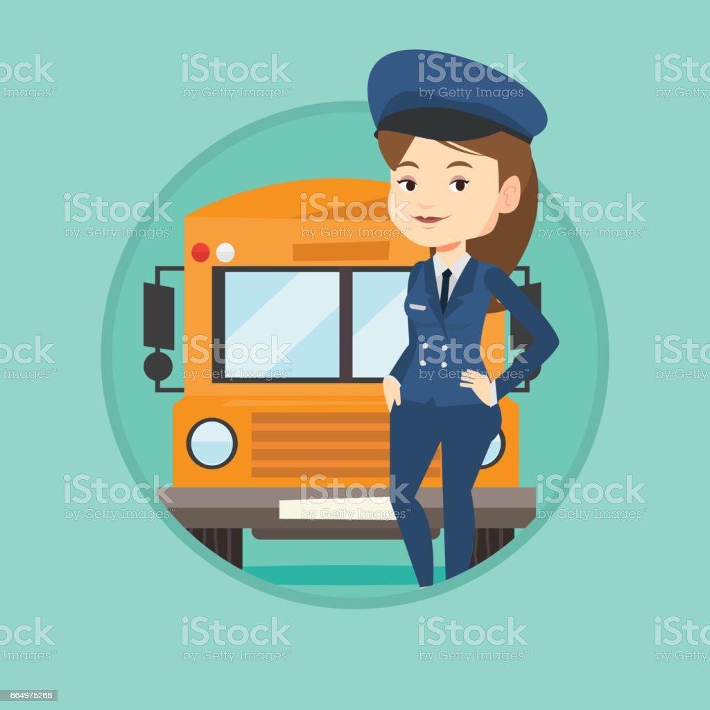 School bus driver vector illustration vector art illustration